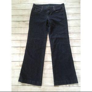 J. Crew   Dark Wash Wide Flare Leg Jeans